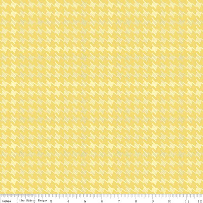 Houndstooth in Yellow - Emily Taylor Design - Avignon