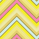 Zag Stripe in Lime - Heather Bailey - Pop Garden