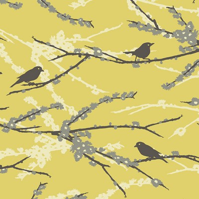 Sparrows in Vintage Yellow - Joel Dewberry - Aviary 2
