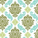 Damask in Dill - Joel Dewberry - Aviary 2