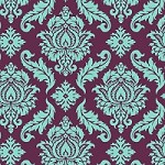 Damask in Plum - Joel Dewberry - Aviary 2