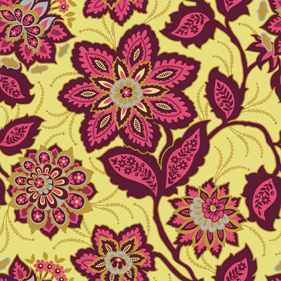 Ornate Floral in Garnet - Joel Dewberry - Heirloom