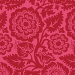 Blockprint Blossom in Crimson - Joel Dewberry - Heirloom