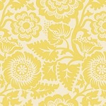 Blockprint Blossom in Dandelion - Joel Dewberry - Heirloom