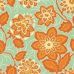 Ornate Floral in Amber - Joel Dewberry - Heirloom