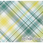 Tartan in Aquamarine - Joel Dewberry - Notting Hill