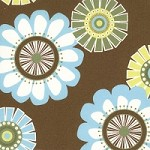 Mod Flowers in Brown - Liz Scott - Sugar Pop