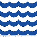 Chevron Wave in Blue - Marin Sutton - Maritime Modern