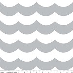 Chevron Wave in Gray - Marin Sutton - Maritime Modern
