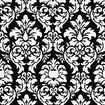 Dandy Damask in Black - Michael Miller - Damask Prints
