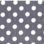Quarter Dot in Gray - Michael Miller - Citron Gray