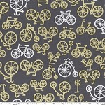 Bicycles in Citron - Michael Miller - Citron Gray