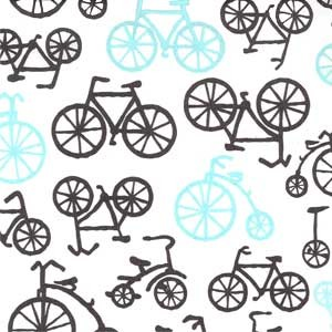 Bicycles in Haze - Michael Miller - It's a Boy Thing