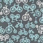 Bicycles in Gray - Michael Miller - It's a Boy Thing