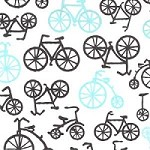 Bicycles in Haze - *MISPRINT* - Michael Miller - It's a Boy Thing