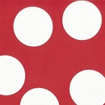 Big Dots in Ruby - Moda House Designer - Half Moon Modern