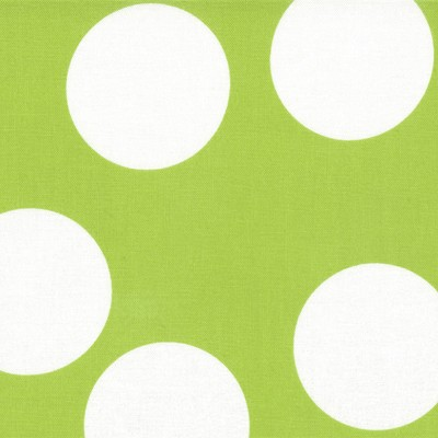 Big Dots in Lime - Moda House Designer - Half Moon Modern