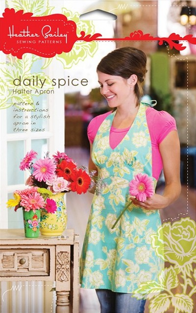 Daily Spice Halter Apron Sewing Pattern - Heather Bailey