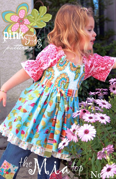 The Mia Top Sewing Pattern - Pink Fig Patterns