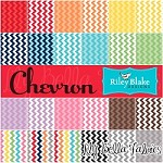 Designer Fabric Fat Eighth Scrap Bag - CHEVRONS ONLY