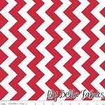 Medium Chevron in Red - Riley Blake House Designer - Chevron Cottons