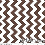 Medium Chevron in Brown - Riley Blake House Designer - Chevron Cottons