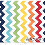 Large Chevron in Rainbow - Riley Blake House Designer - Chevron Cottons