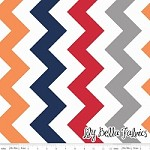 Large Chevron in Boy - Riley Blake House Designer - Chevron Cottons