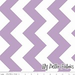 Large Chevron in Lavender - Riley Blake House Designer - Chevron Cottons