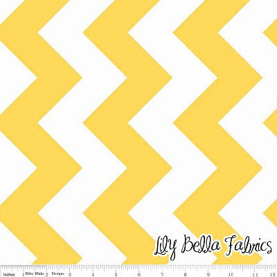 Large Chevron in Yellow - Riley Blake House Designer - Chevron Cottons