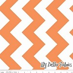 Large Chevron in Orange - Riley Blake House Designer - Chevron Cottons