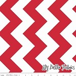 Large Chevron in Red - Riley Blake House Designer - Chevron Cottons