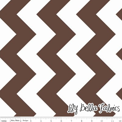 Large Chevron in Brown - Riley Blake House Designer - Chevron Cottons