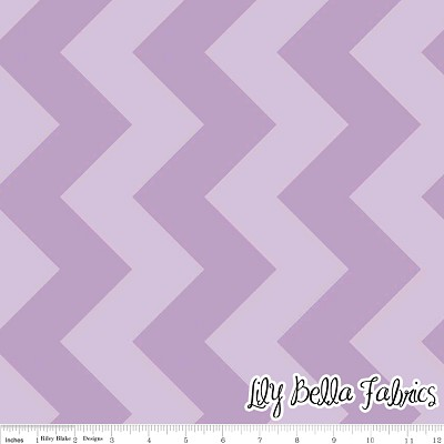 Large Chevron in Tone on Tone Lavender - Riley Blake House Designer - Chevron Cottons