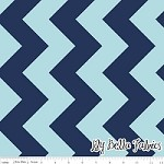 Large Chevron in Tone on Tone Navy - Riley Blake House Designer - Chevron Cottons