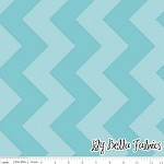 Large Chevron in Tone on Tone Aqua - Riley Blake House Designer - Chevron Cottons