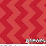 Large Chevron in Tone on Tone Red - Riley Blake House Designer - Chevron Cottons