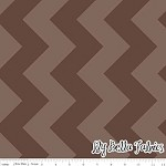 Large Chevron in Tone on Tone Brown - Riley Blake House Designer - Chevron Cottons