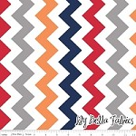Medium Chevron in Boy - Riley Blake House Designer - Chevron Cottons