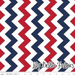Medium Chevron in Patriotic - Riley Blake House Designer - Chevron Cottons