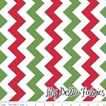 Medium Chevron in Christmas - Riley Blake House Designer - Chevron Cottons
