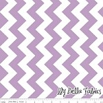 Medium Chevron in Lavender - Riley Blake House Designer - Chevron Cottons