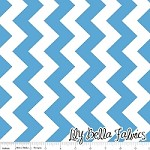 Medium Chevron in Medium Blue - Riley Blake House Designer - Chevron Cottons