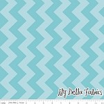Medium Chevron in Tone on Tone Aqua - Riley Blake House Designer - Chevron Cottons