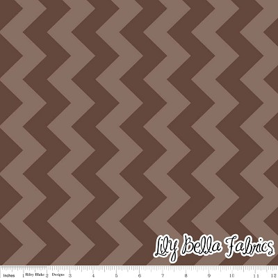 Medium Chevron in Tone on Tone Brown - Riley Blake House Designer - Chevron Cottons