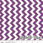 Small Chevron in Purple - Riley Blake House Designer - Chevron Cottons