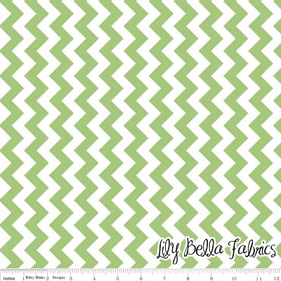Small Chevron in Green - Riley Blake House Designer - Chevron Cottons