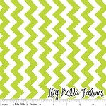 Small Chevron in Lime - Riley Blake House Designer - Chevron Cottons