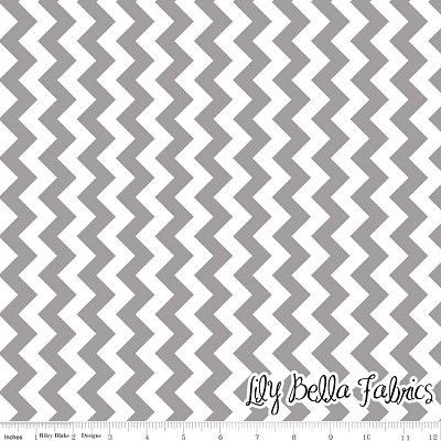 Small Chevron in Gray - Riley Blake House Designer - Chevron Cottons