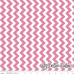 Small Chevron in Hot Pink - Riley Blake House Designer - Chevron Cottons